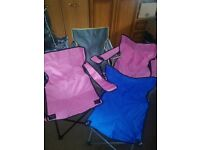 4 foldable chairs