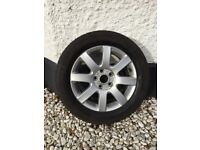 VW EOS Winter Tyres with Wheels - Full Set Continental Winter Contact TS830 - Nearly New BARGAIN