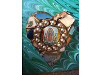 Large Handmade Mosaic brooch - nineties