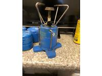 Camping stove with 4 gas canisters