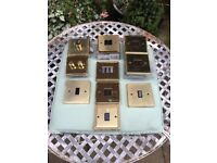 Brass light switches and dimmers