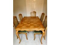 Dining Table & Chairs with matching Sideboard- full set or sold separately