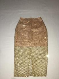 Ladies Missguided Split Skirt UK 8