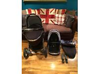 Babystyle egg pram and pushchair with accessories