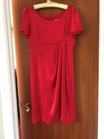 Red Karen Millen Cocktail Dress Size 14.