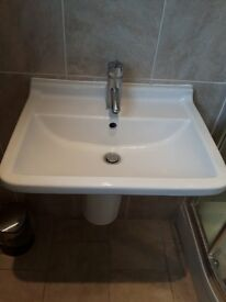 Duravit Sink inc. tap & waste - Very good condition