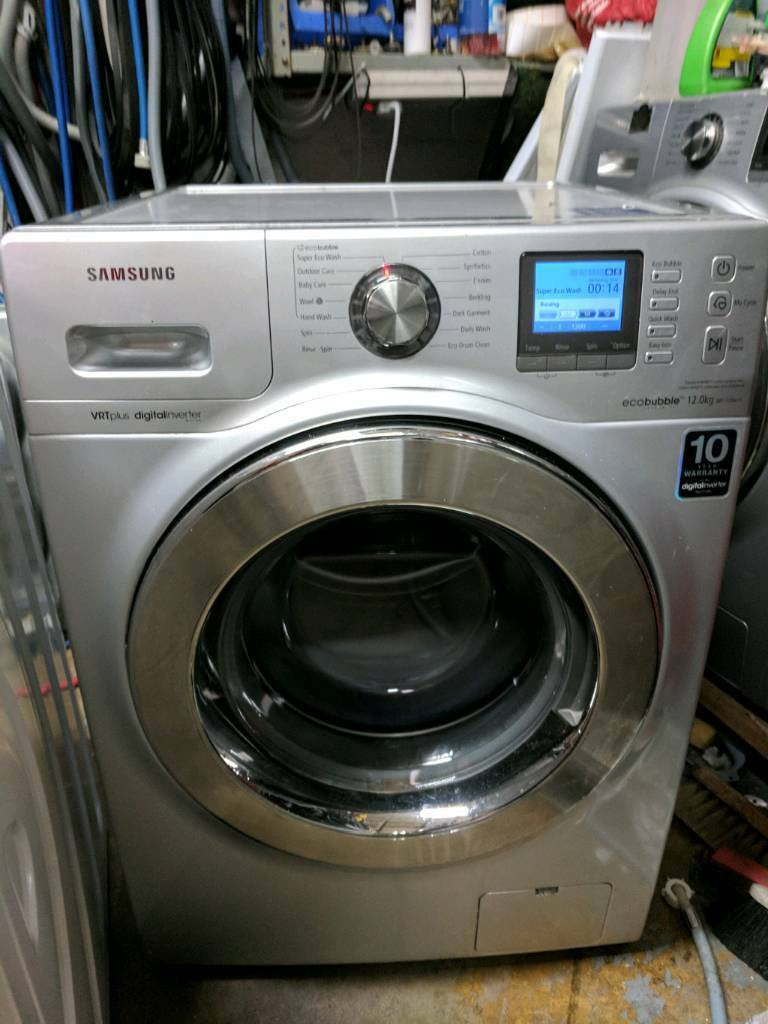 Samsung 12kg ecobubble washing machine silver