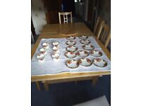 Royal Albert Old Country Roses tea set and side plates