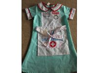 Kids fancy dress nurse costume age 5-7