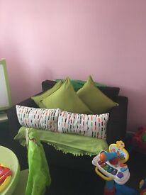 Small sofa used for in toy room