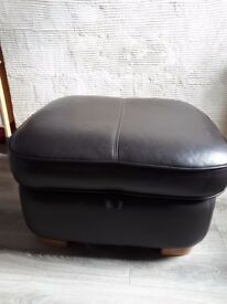 Leather pufa storage for sale