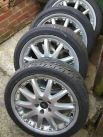 "18"" Ford transit connect/focus/Mondeo alloy wheels and tyres"