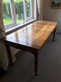 Old age solid dark cherry large kitchen/dinning room table