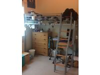 Jaybe High Sleeper bed with desk & chair\futon bed (no mattress)