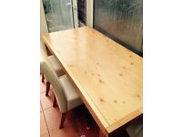 Pine chunky dining table 5ft long