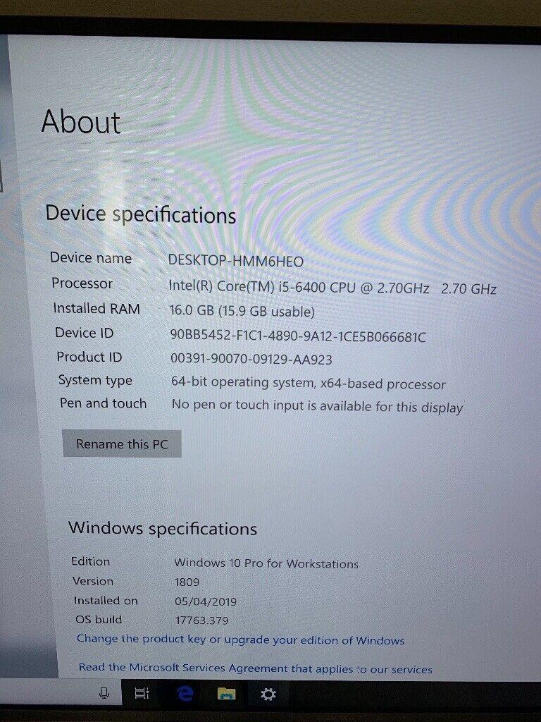 New PC - Intel i5 6400 - ASUS H170M-ED3 - 16GB Ram - EVGA 500 - 240 GB SSD  | in Timsbury, Somerset | Gumtree
