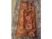 Brown With Cream Swirl Curtains
