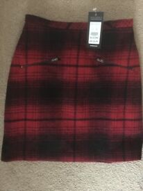 Brand new with tags size 6 red check skirt