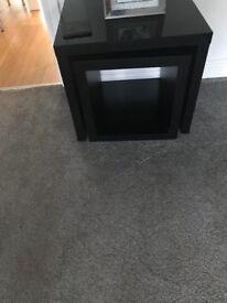 Next nest of tables gloss black