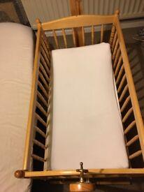 Large baby wooden crib