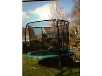 10ft trampoline with safety net and cover