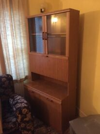 Tall Wooden Storage and Display Unit.