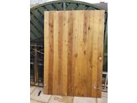 Wide Timber Garden Gate with lock