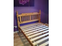 Solid pine double bed Great Condition