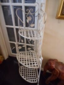 metal cream folding storage stand
