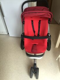 red quinny buzz pram for sale