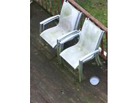 Free large metal frame toughened glass garden table with 4 chairs. Bevendean.