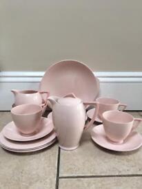"Wedgewood ""Blush Rose"" antique coffee set"