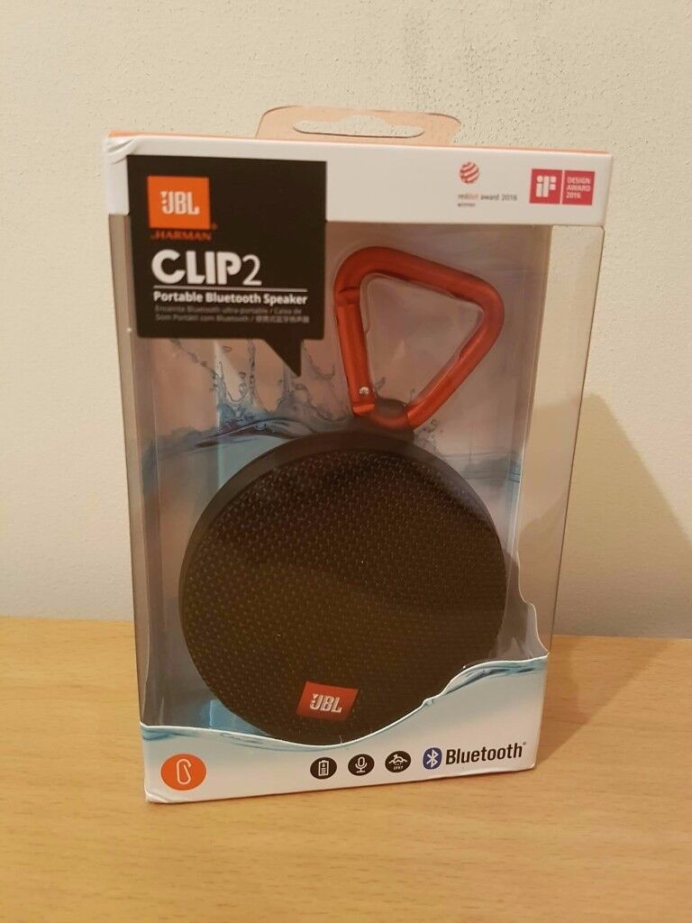 JBL Clip 2 Waterproof Ultra Portable Wireless Bluetooth Speaker (NEW, SEALED)