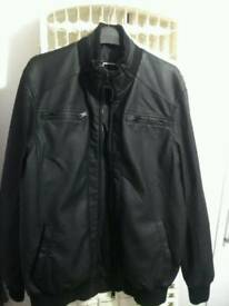 As new Leather look Jacket