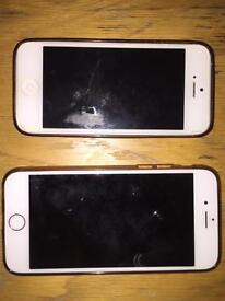 2x iphone 6 and 5se