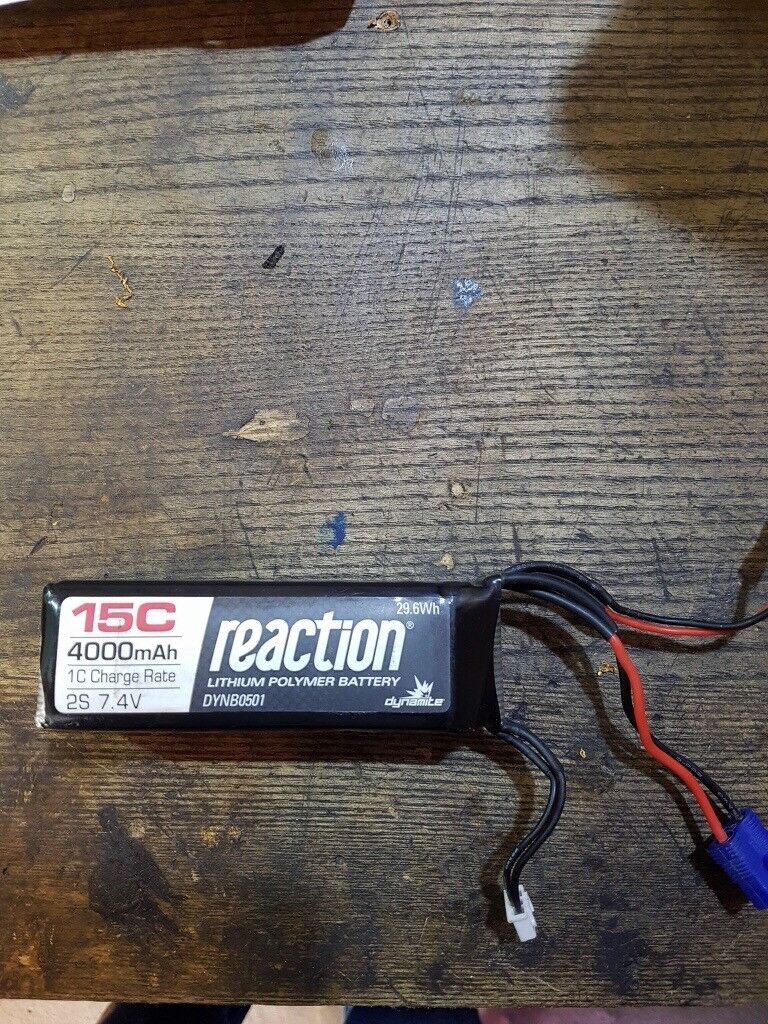 Rc car 1/5 scale receiver lipo 2s battery bargain