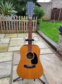 Vintage 1976 12 string acoustic guitar. Saxon by Selmar