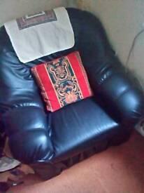 Black Sofa Single Good condition *URGENT*