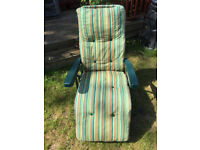 Reclining sun lounger chair £10 or swap for clothes rail.