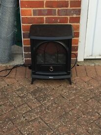 1 electric and one gas fire