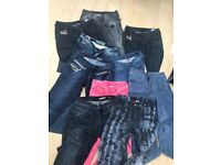 10 x Jeans - For petite length - Some Designer Diesel / Miss Sixty / Levi's