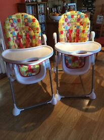Highchairs excellent condition