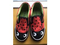 Dotty! Ladybird M&S slip on trainers - used- size 9