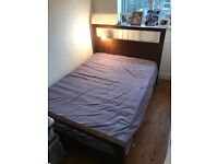 IKEA bed and mattress in good condition with all slats
