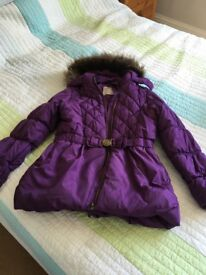 Girls age 9 to 10 purple coat