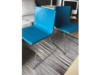 2 upholstered leather chairs