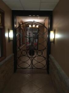 Wrought Iron Gate w/ Steel Frame