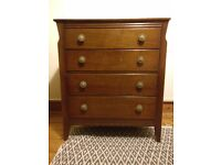Vintage wooden chest of drawers