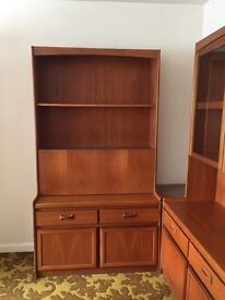 G Plan style teak wall unit with drinks cabinet