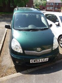 TOYOTA YARIS VERSO 2003 DIESEL CAR 1.3CC GREEN 5 DOORS, 5 MONTHS MOT, CHEAP TO RUN!!! FOR ONLY £599